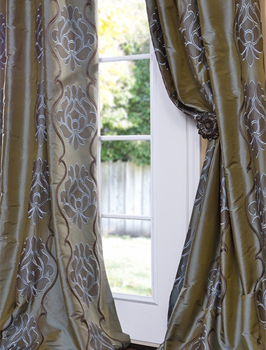 Give your house an update with patterned silk drapes