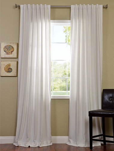 Use cotton drapes to create a canopy