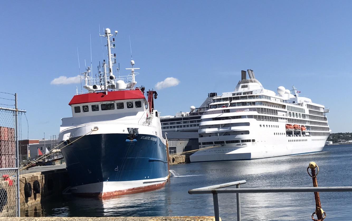 Busy Day At The Cruise Terminal Haligonia Ca