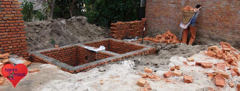 Bauarbeiten in der Behindertenschule