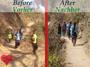 Von nun an müssen die Schulkinder ihre Bücher nicht mehr unterm Arm zur Schule tragen.