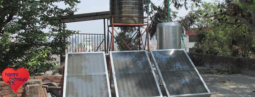 Solaranlage-Warmwasser-Behindertenschule
