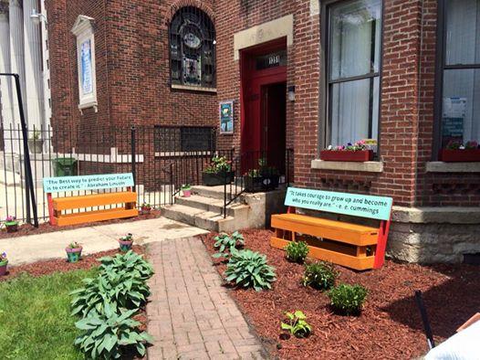 New Garden Entrance Way at Casa Central