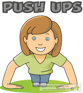 exercise_girl_pushups_word classroom clipart com