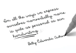 Betty Edwards Quote Handwriting