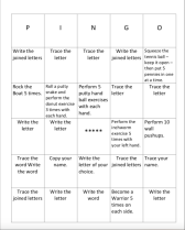 The Pingo template allows you to insert the letter formations and words that your students are working on currently.