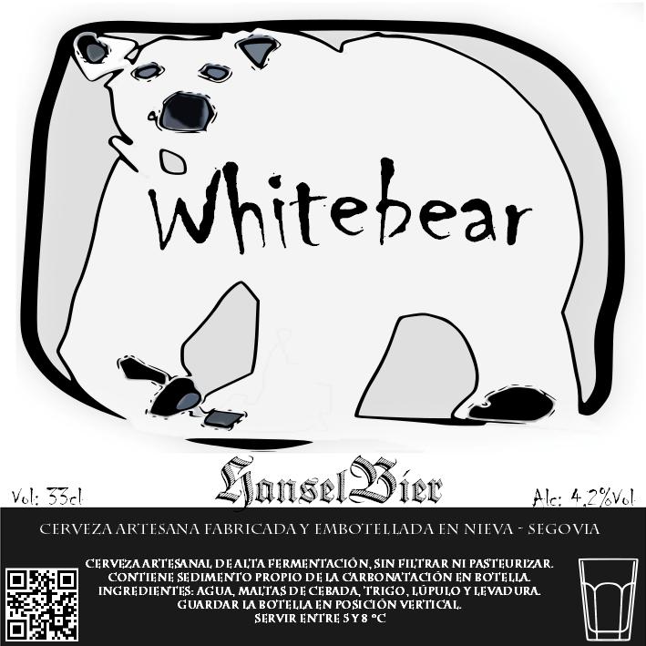Etiqueta Whitebear diseñada para la primera versión
