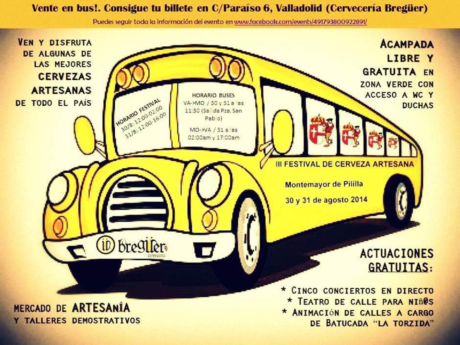 Bus Valladolid - Feria Cerveza El Milanito 2014