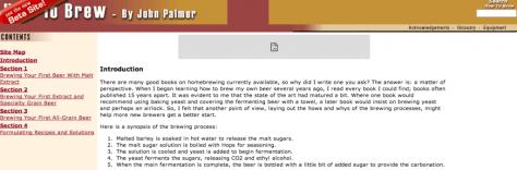 Captura de pantalla How to Brew Online Version
