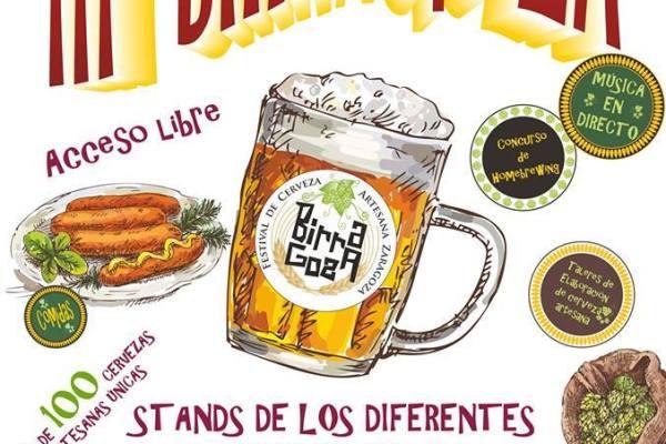 Cartel - III Birragoza Feria de la cerveza Artesana de Zaragoza