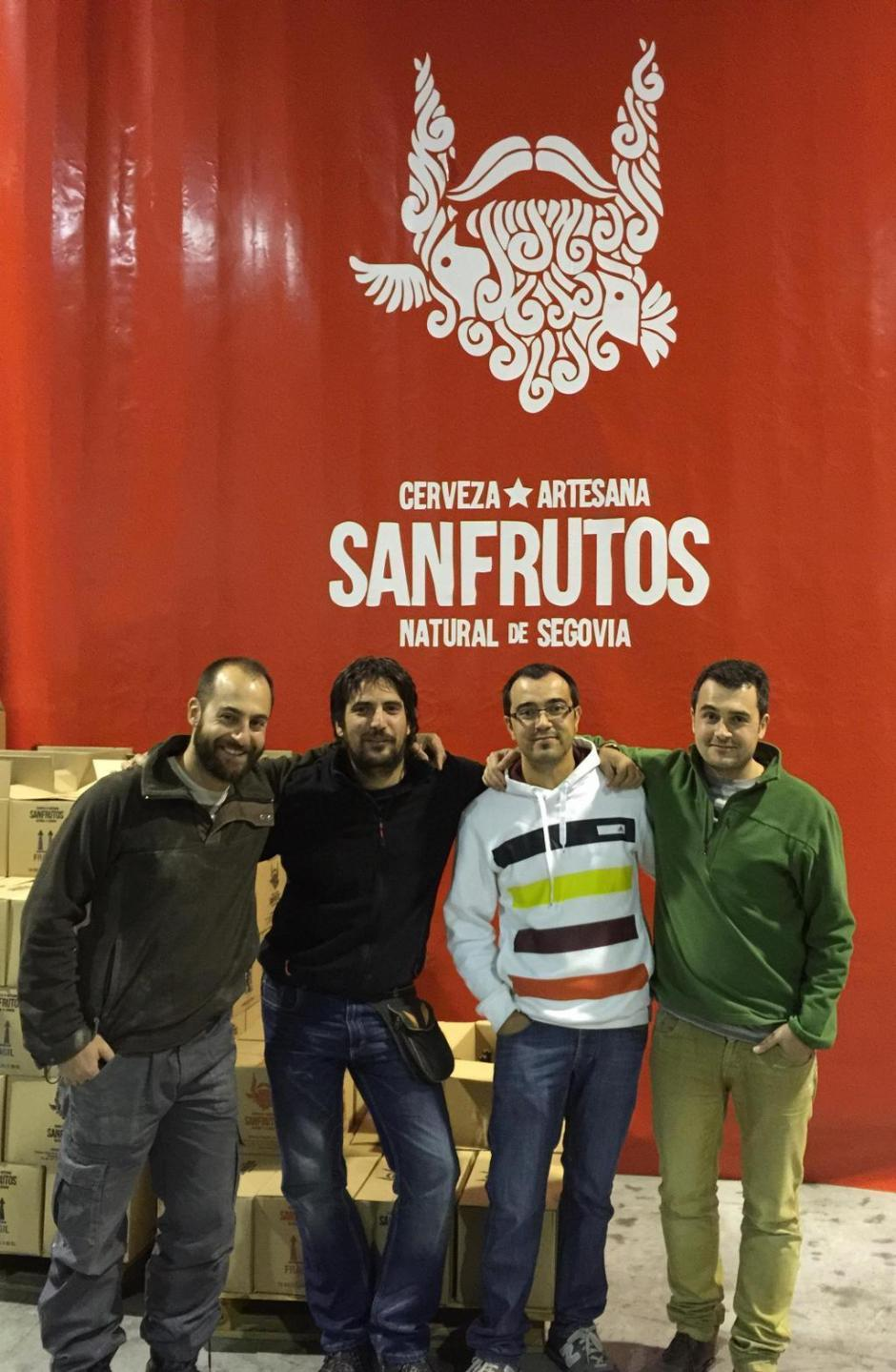 De izquierda a derecha: Mateo, Anselmo (Hans), Jorge (Craufurd) y Adrian