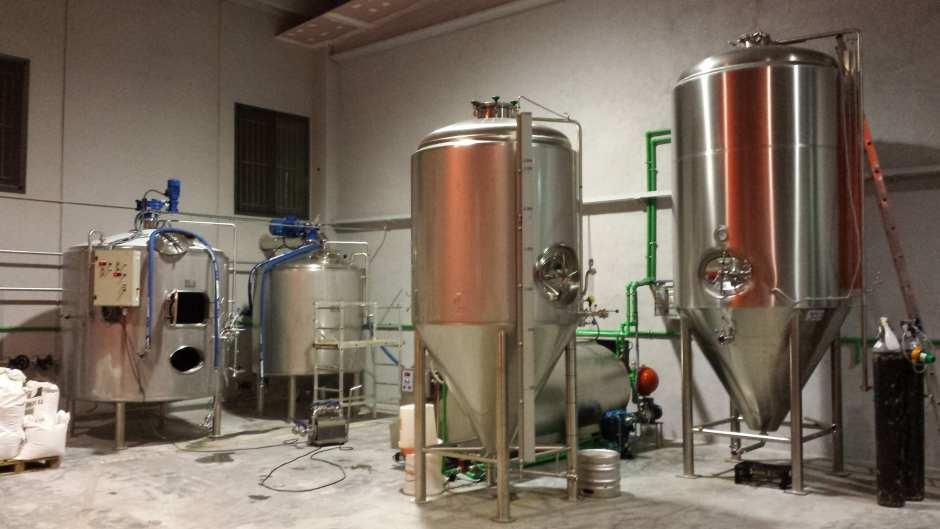 Equipo de elaboración de Cerveza Artesana Sanfrutos