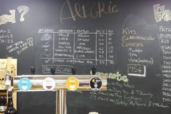 TapRoom Cerveza Alegría