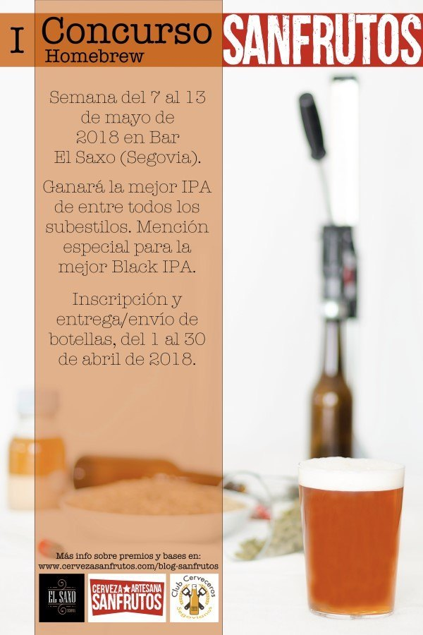 Cartel I Concurso Homebrew Sanfrutos