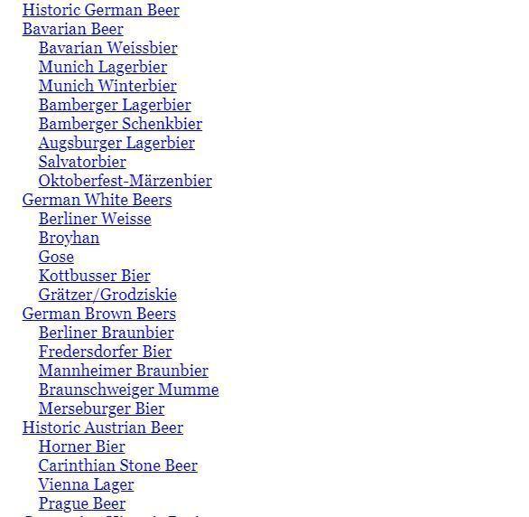 German and Austrian beer styles