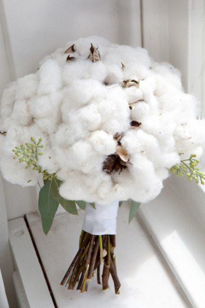 Decoration Mariage Fleur De Coton : Un bouquet de coton happy chantilly