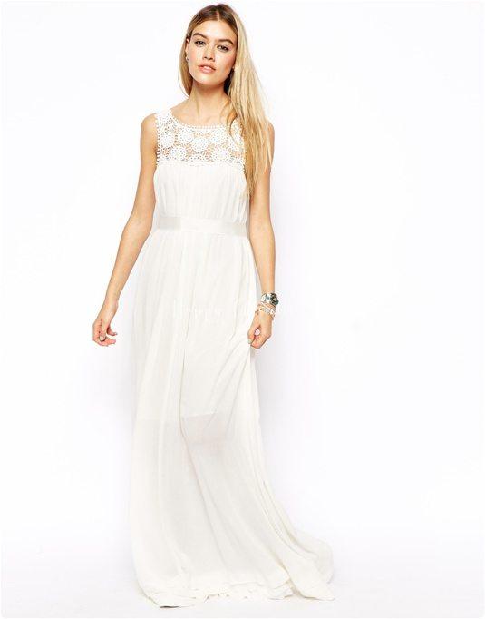 robe du dimanche robe blanche dentelle romantique boh me. Black Bedroom Furniture Sets. Home Design Ideas