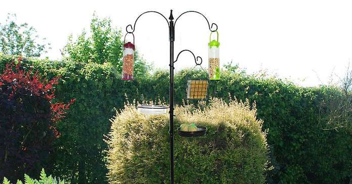 Bird Feeding Station with 4 Bird Feeders from Happy Beaks