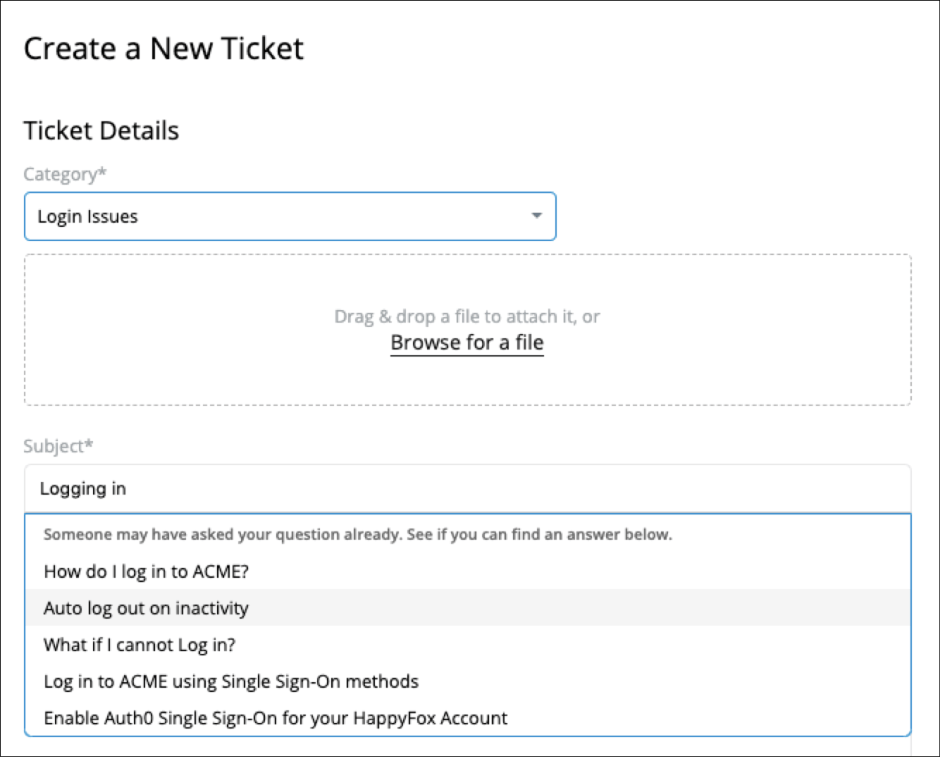 Deflecting customer support tickets to knowledge base