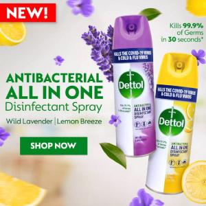 dettol disinfectant spray lemon 450ml