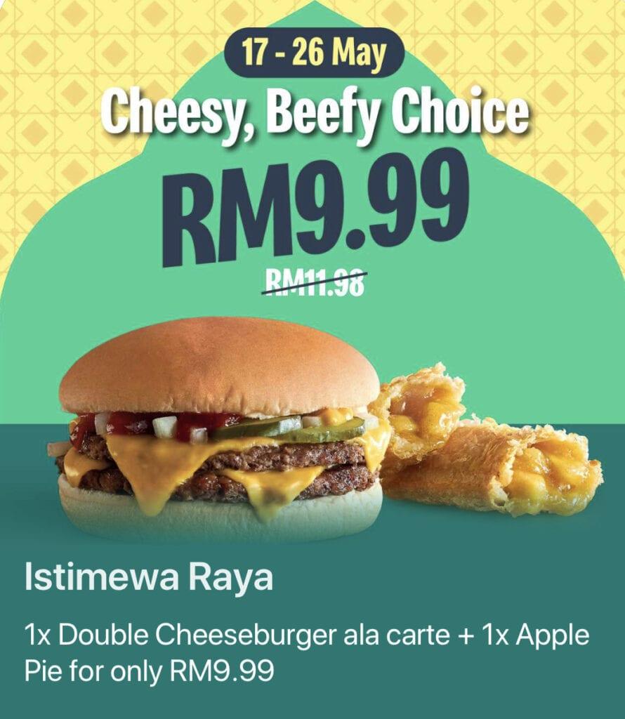 Double Cheese Burger Apple Pie