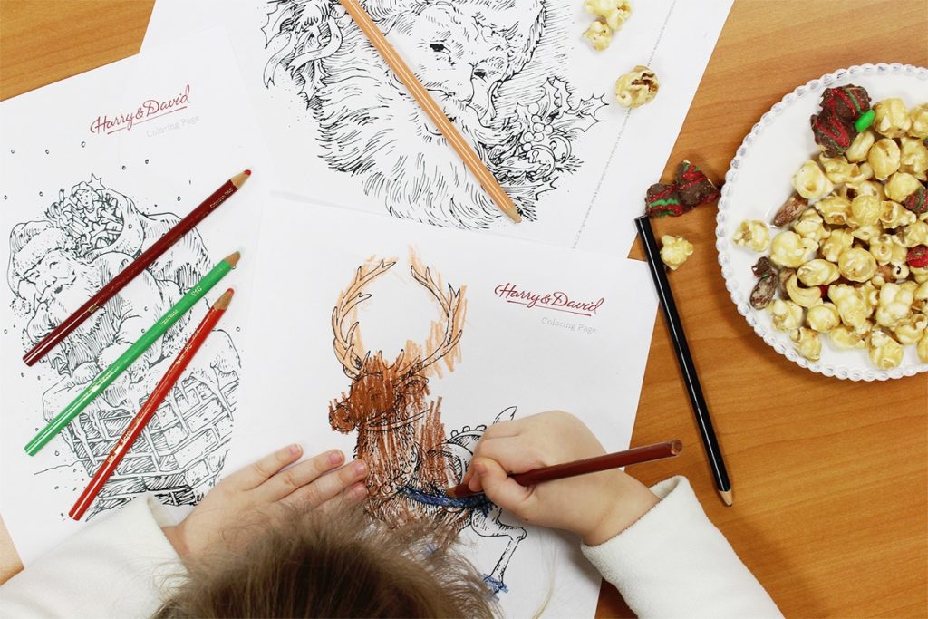 christmas coloring pages and printable gift tags harry amp david blog
