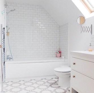 Marianne's bathroom in Parquet Stone by Neisha Crosland