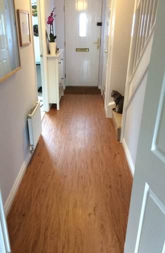 Lauren's hallway in Premium Wood Scrubbed Pecan