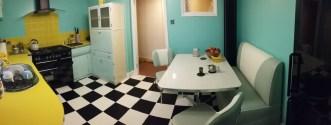 Simon's kitchen in Colours Collection Jet Black & Latte White