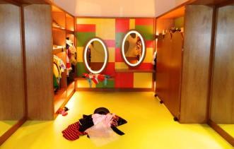 yellow flooring in kids club