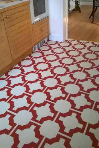 Jessica has used Parquet by Neisha Crosland in Red Oxide to really make a difference to her kitchen.