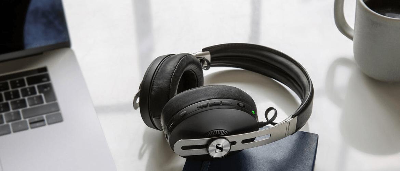 Over-ear headphones on desk