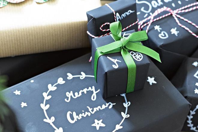 idées d'emballages cadeaux ardoise
