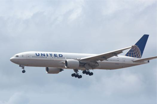 United Airlines 777 by Mel