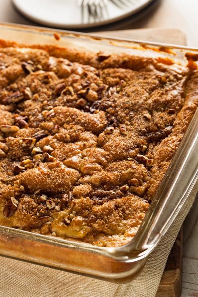 Homemade Coffee Cake with Cinnamon and Nuts
