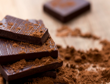 No need to feel guilty about eating dark chocolate. In fact, it has many health benefits, so enjoy! ©iStockphoto.com/tanjichica7