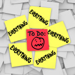 Overwhelmed post it notes