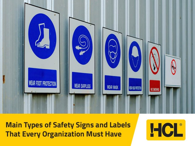 Main Types of Safety Signs and Labels That Every Organization Must Have