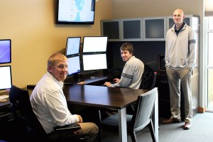 From left to right: Graff, Stowater and Jones in Heartland's operations center.