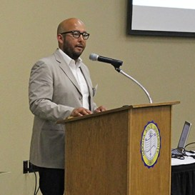 APPA Director of Digital and Social Media Sam Gonzales speaks at the Heartland Annual Meeting in May.