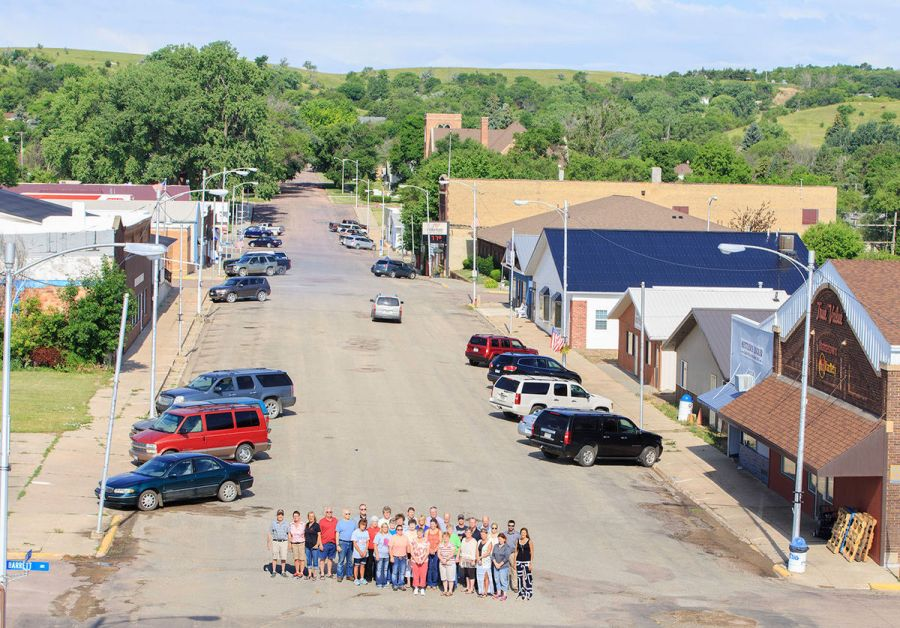 Less than 12 hours after the firemen light the last Fourth of July rocket, workers will descend on the Wessington Springs Main Street to launch a $1.6 million restoration project. Wessington Springs business people and employees gathered for a group photograph to document the aged and decaying downtown infrastructure one last time before the three-month project begins. All of them hope you will do whatever is necessary to continue to shop at home during the process. Copyright True Dakotan.