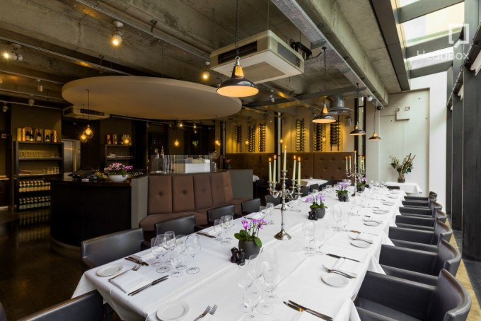swanky modern restaurant in Liverpool street