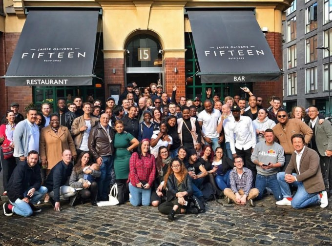 crowd photo at Jamie Oliver's fifteen