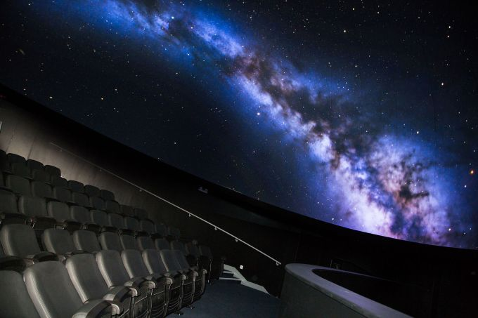 planetarium with projection of space