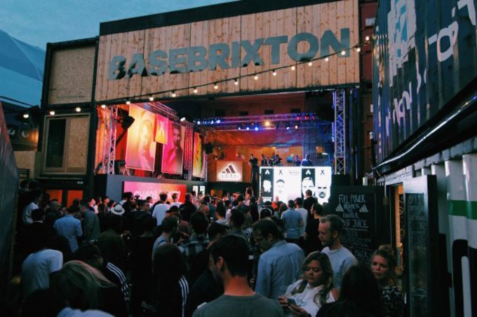 large crowd gathered at pop Brixton