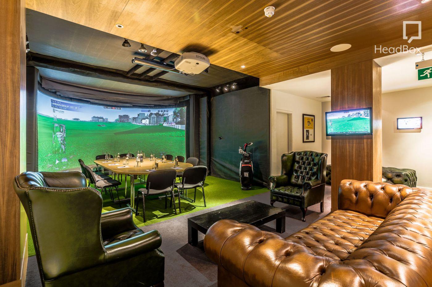 golf stimulator and meeting room, Farringdon.