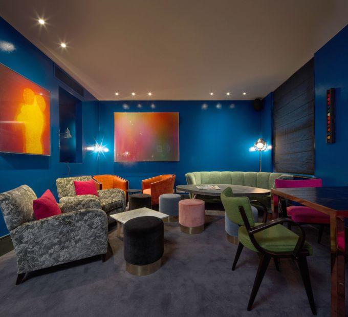 colourful lounge room at Soho bar