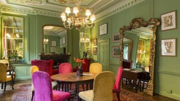 green walled private dining room London