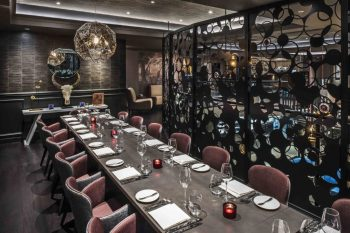 mezzanine level private dining room