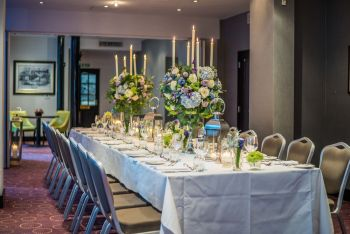 large event space with grand table